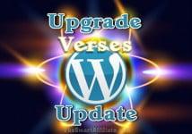 wordpress upgrade verses update