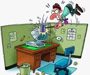 businessman smashing his computer --- Image by © Imagezoo/Images.com/Corbis